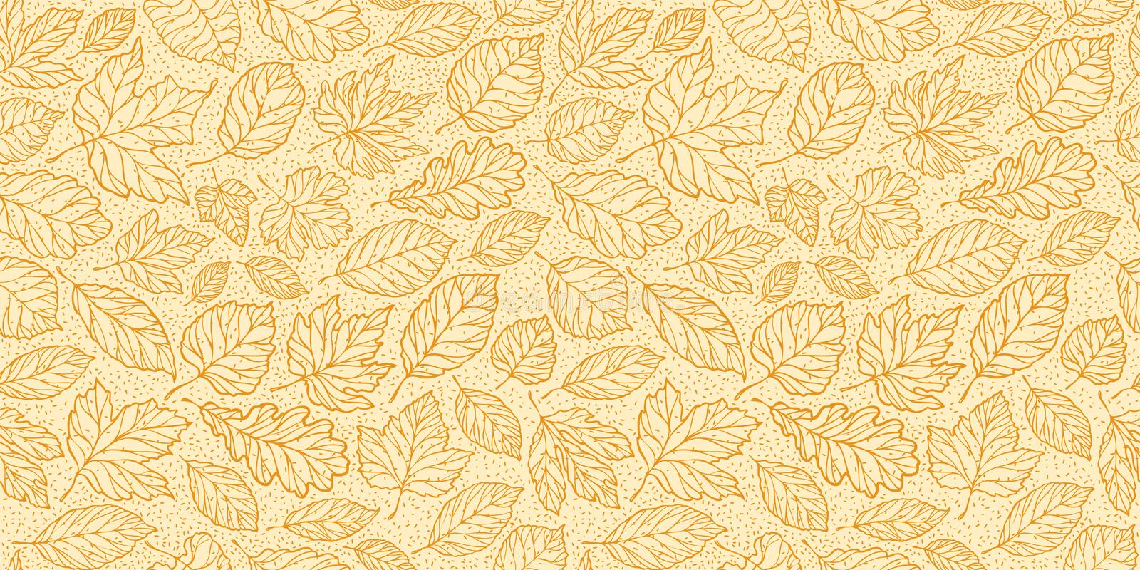 Autumn seamless background with leaves. Leaf fall vector illustration. Autumn seamless background with leaves. Leaf fall vector stock illustration