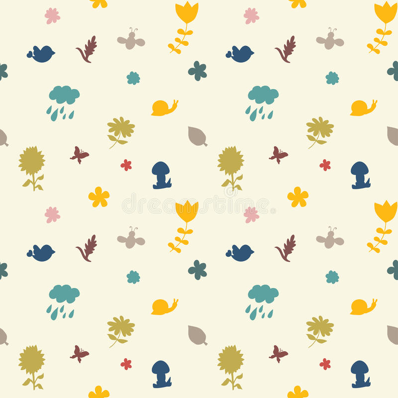 Autumn seamless pattern. Endless texture can be used for printing onto fabric, paper or scrap booking, wallpaper, pattern fills, web page background, surface stock illustration