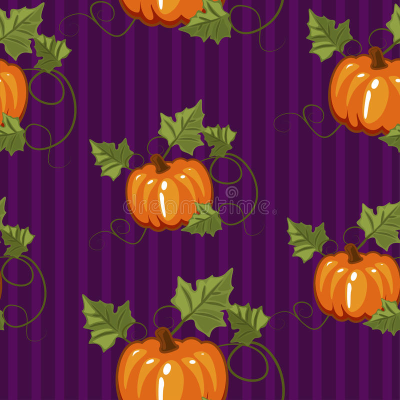 Autumn seamless pattern, gift wrapping, invitation for Halloween or Thanksgiving,set3 stock illustration
