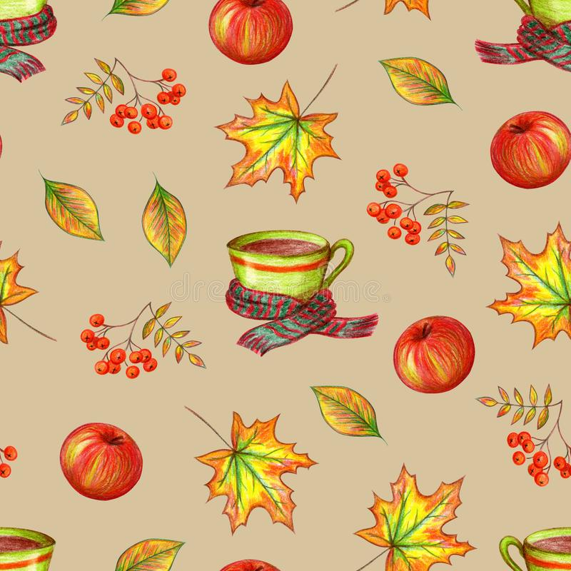Autumn seamless pattern. royalty free illustration