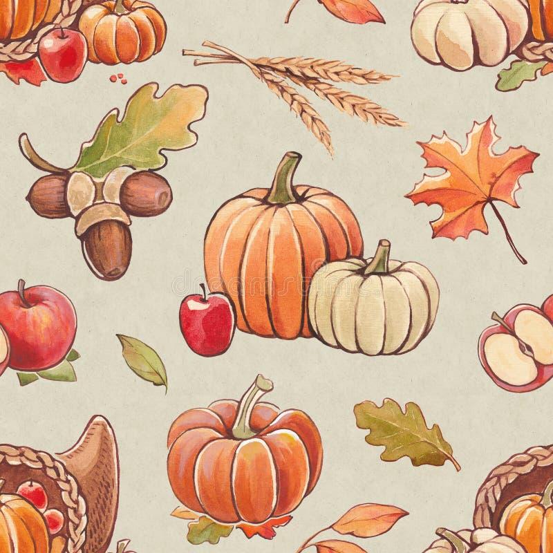 Autumn seamless pattern vector illustration