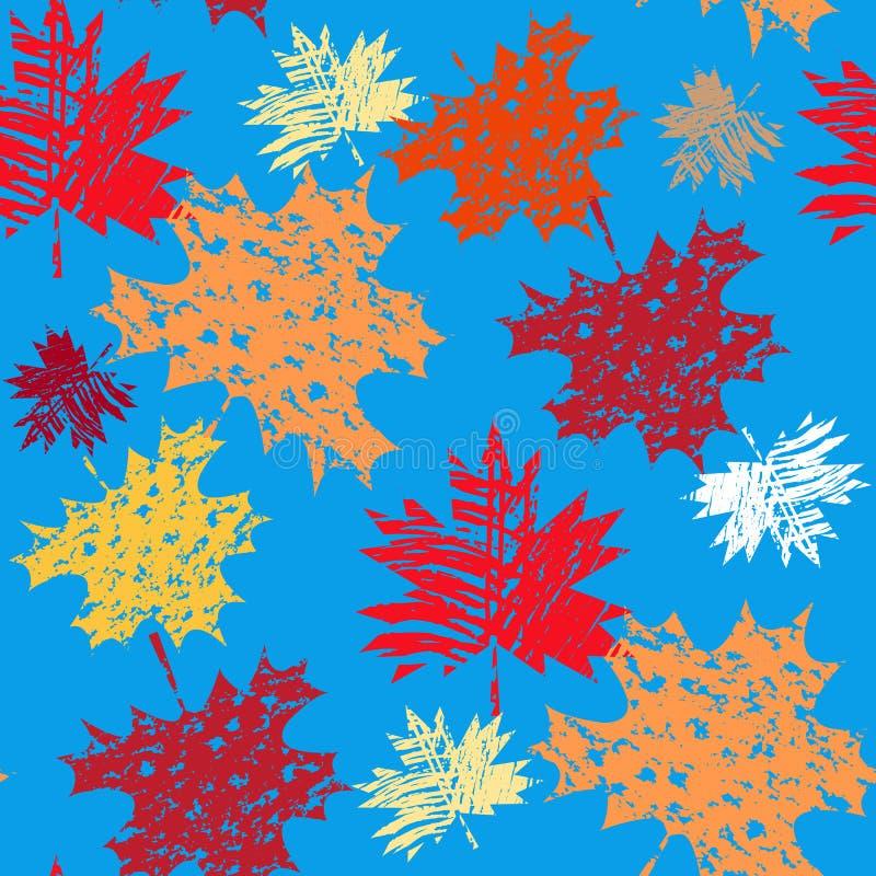 Autumn pattern2. Autumn seamless pattern with maple leafves. Canada day. Vector illustration stock illustration