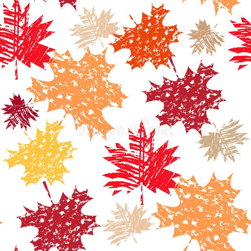 Autumn pattern1. Autumn seamless pattern with maple leafves. Canada day. Vector illustration royalty free illustration