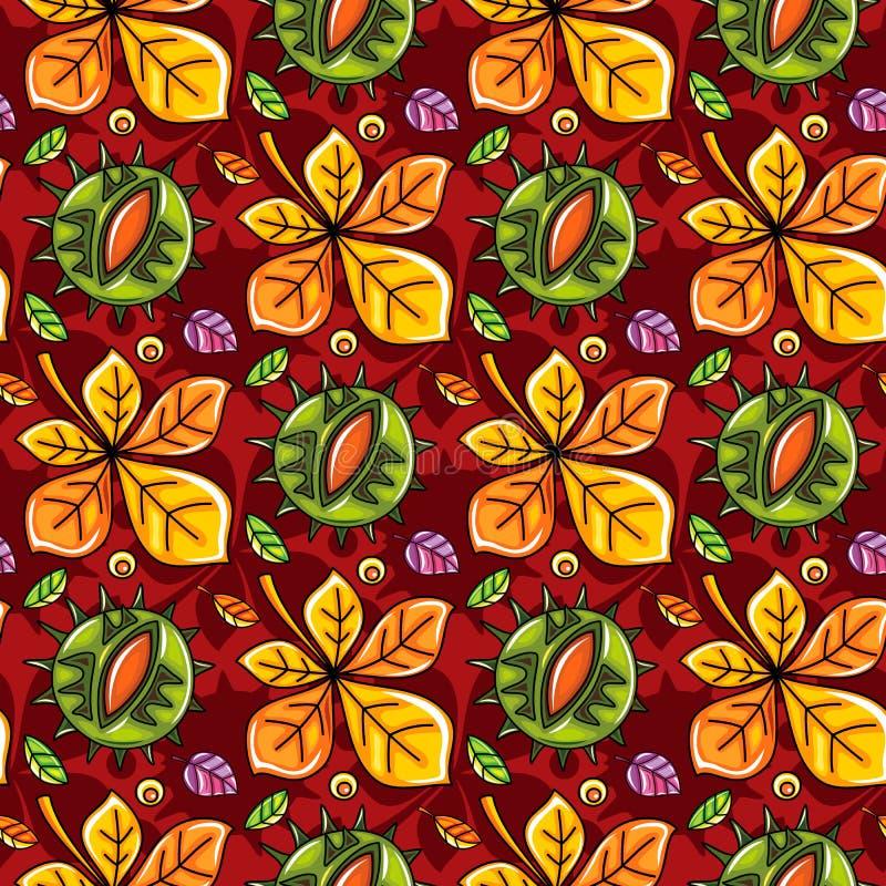 Autumn seamless pattern series vector illustration