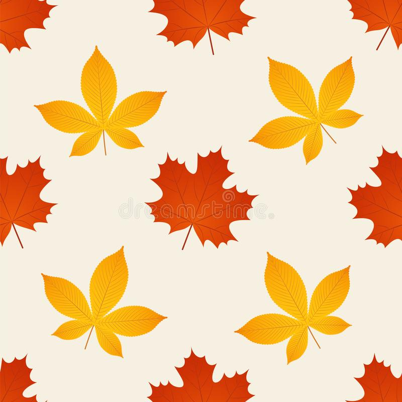 Cute Fall Autumn Seamless Vector Pattern Background Illustration With Cartoon Chestnut And Leaves Stock Vector Illustration Of Doodle Decorative 156669572