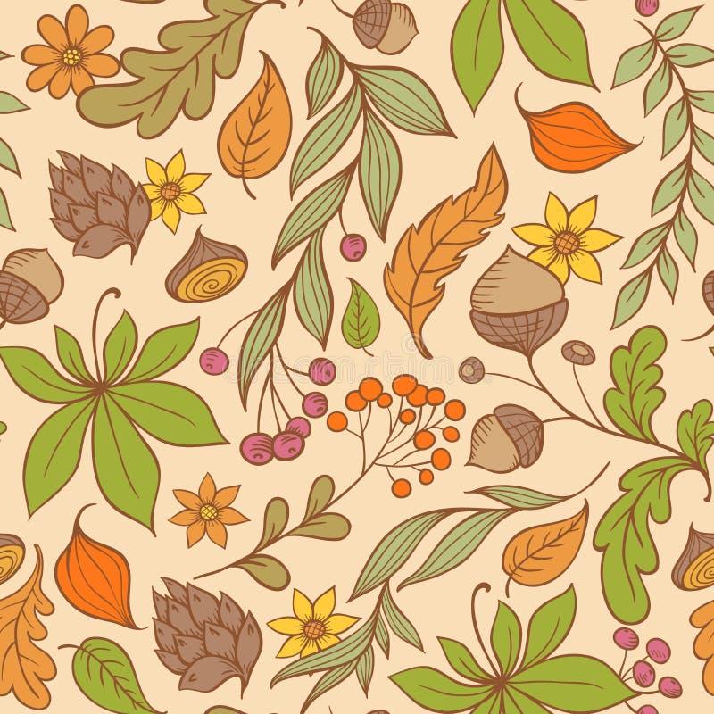 Autumn Seamless Pattern Royalty Free Stock Image