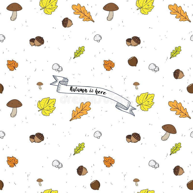 Autumn Seamless vector Background stock illustration