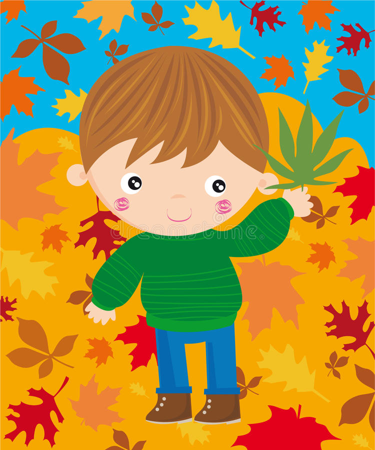 Autumn season stock illustration