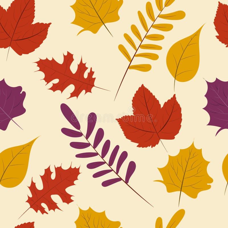 Autumn season, Fall leaf seamless pattern background. Vector illustration vector illustration