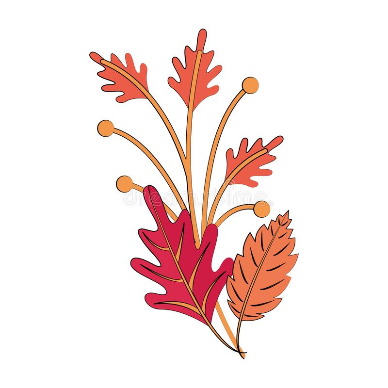 Autumn season leaves bouquet cartoon. Vector illustration graphic design vector illustration