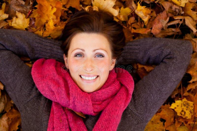 Download Autumn season woman stock photo. Image of maple, natural - 16465046