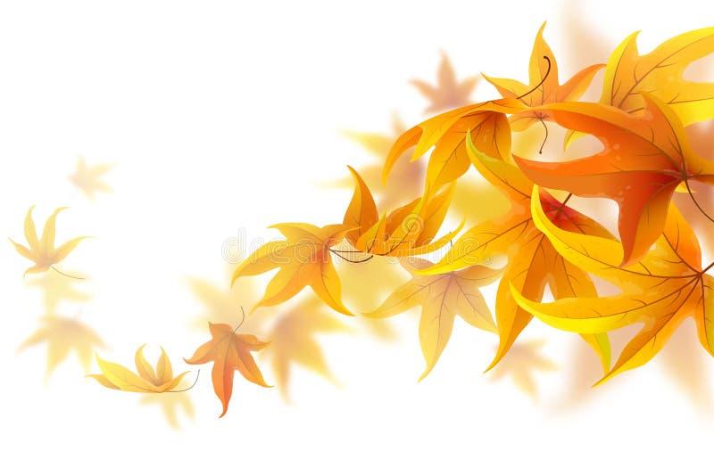 autumn się liście royalty ilustracja