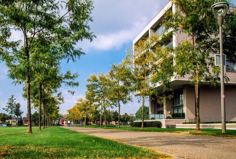 Autumn in the Sittard city stock image