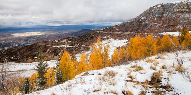 Autumn Snow immagine stock libera da diritti