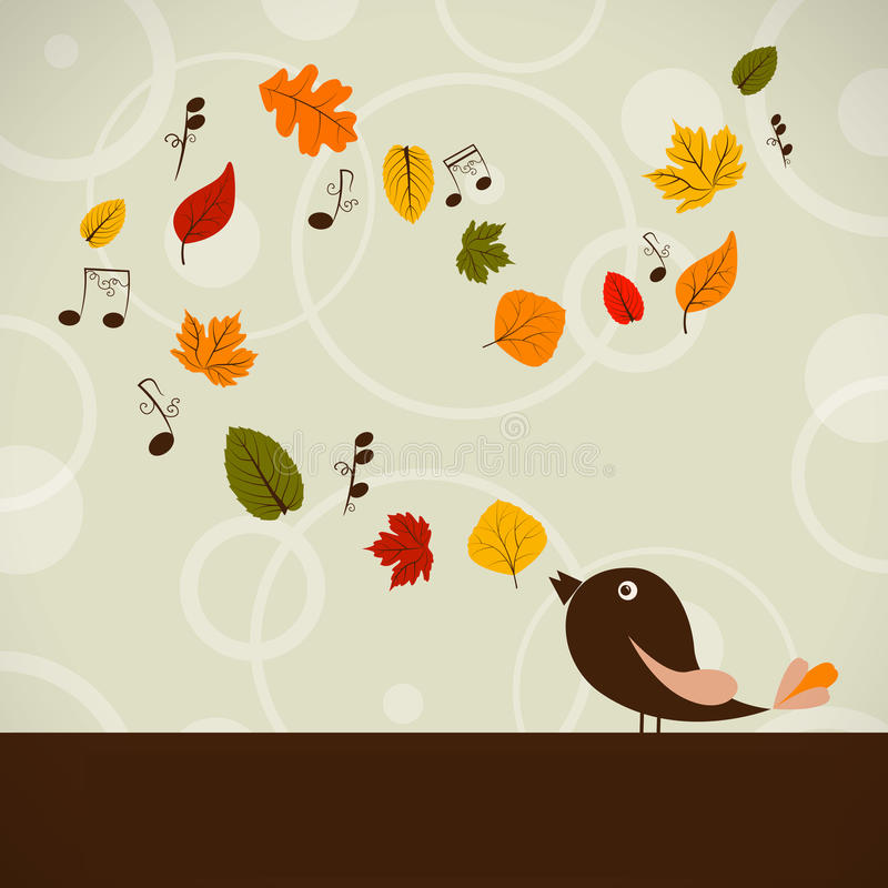 Download Autumn song stock vector. Image of melody, leaf, cool - 26120764