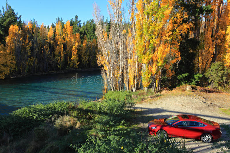 Autumn in South Island New Zealand. royalty free stock photography