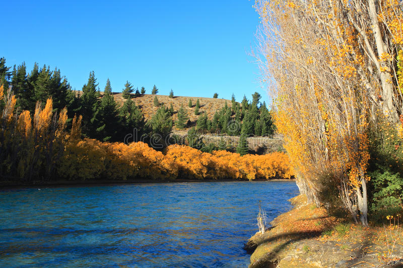 Autumn in South Island New Zealand. royalty free stock images