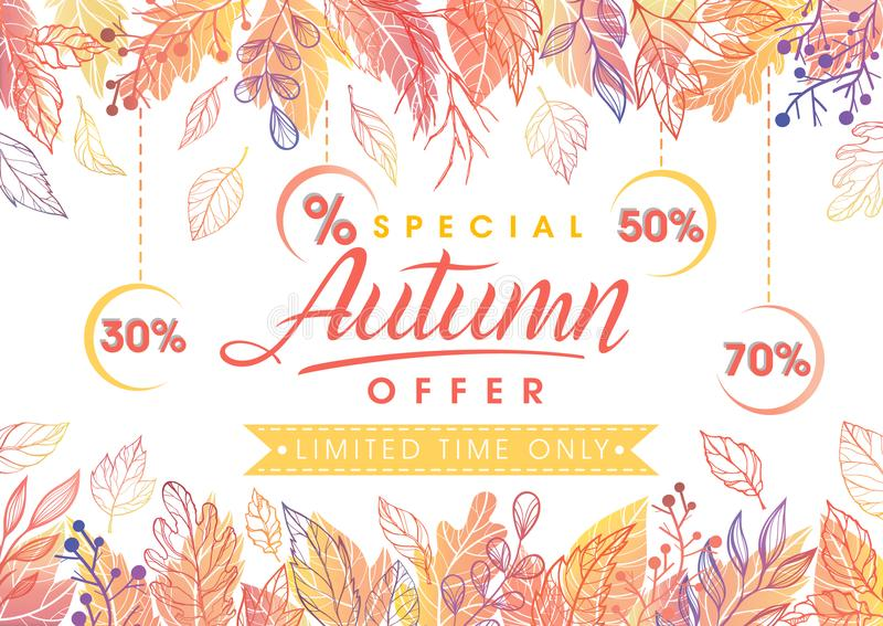 Autumn special offer banner royalty free stock photos
