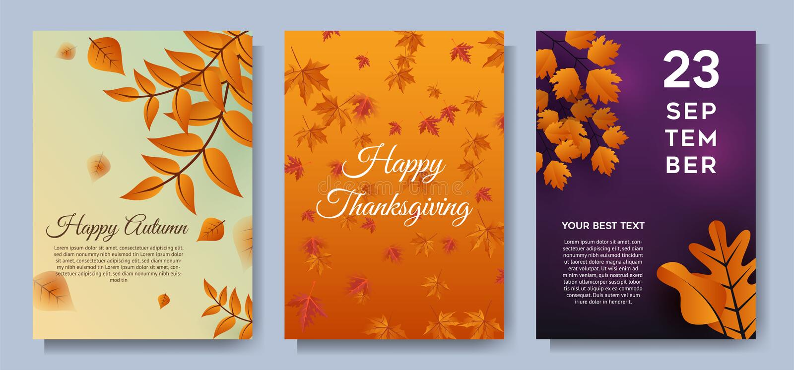 Autumn special offer leaves sale banners or party invitation background vector illustration