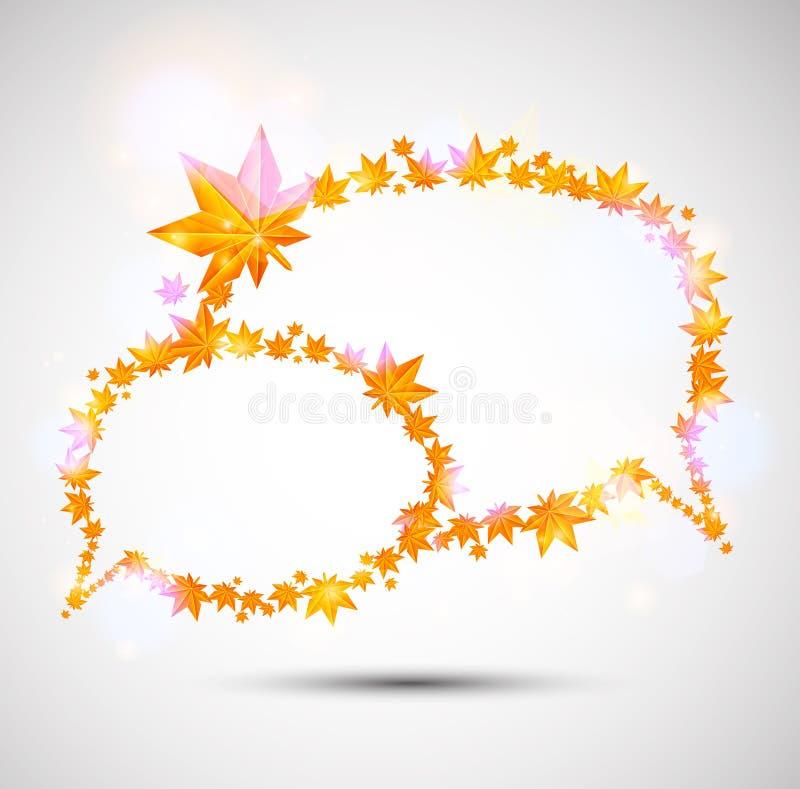 Download Autumn speech bubble stock vector. Illustration of foliage - 25365405