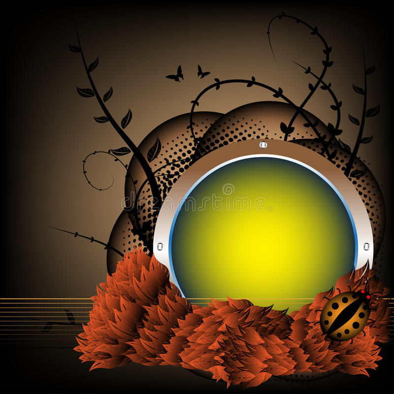 Download Autumn spherical frame stock vector. Image of abstract - 11234271