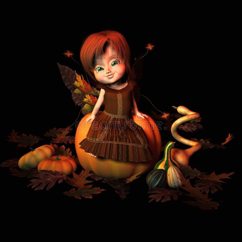 Autumn Sprite royalty free illustration