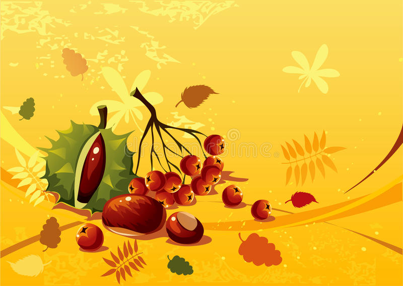 Download Autumn still life stock vector. Image of nature, colorful - 15301033