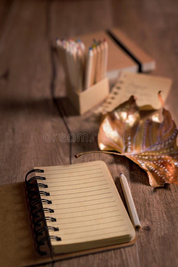Autumn still life with empty open notebook and painted dry leaf download autumn still life with empty open notebook and painted dry leaf stock image image stopboris Choice Image