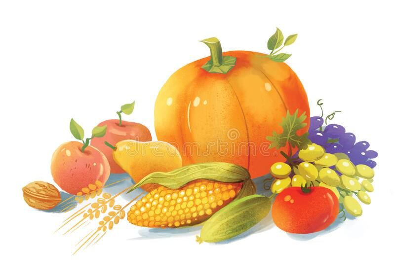 Autumn still life of fruits and vegetables royalty free stock photography