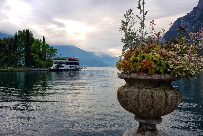Autumn still life on Garda lake royalty free stock photography