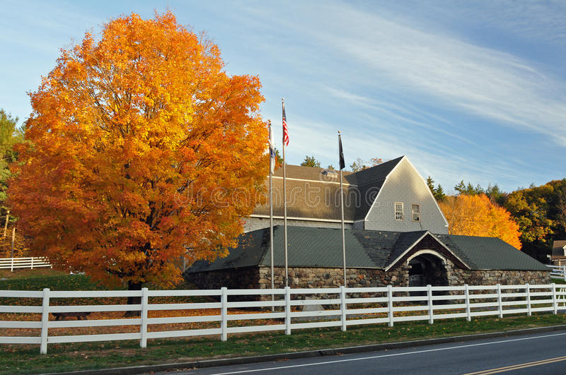 Download Autumn Stone Barn stock image. Image of arch, fall, traditional - 16710975