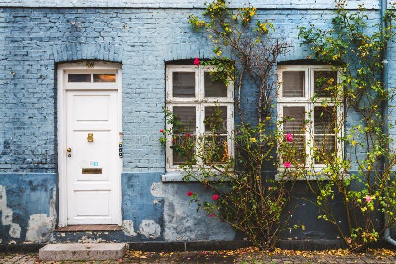 Autumn Street in Copenhagen stock photo