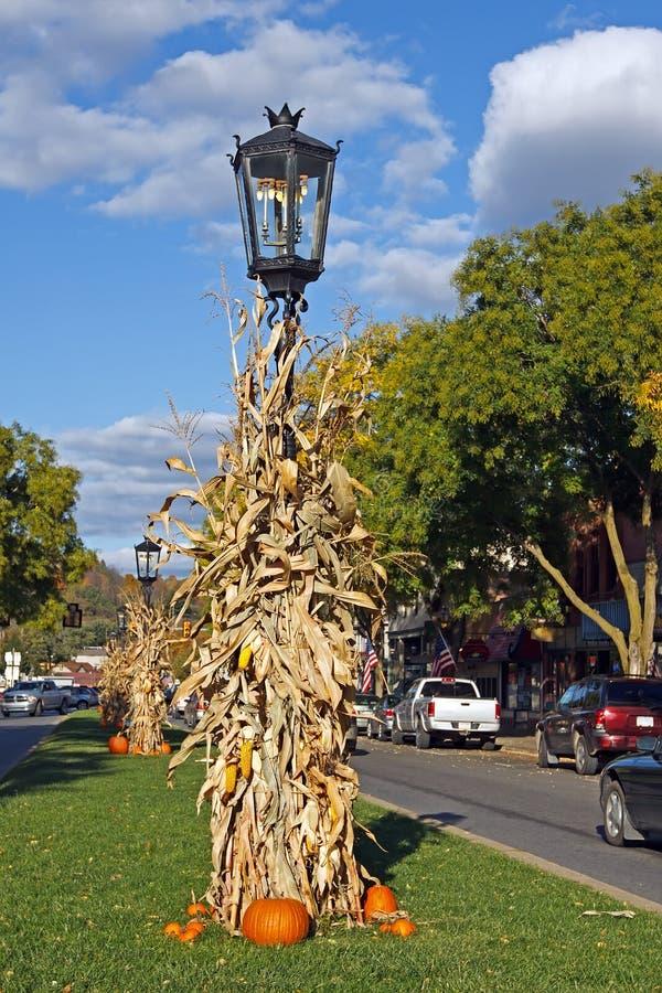 Autumn Street Scene fotografie stock