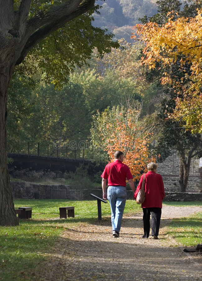Free Autumn Stroll In The Park Stock Images - 325154