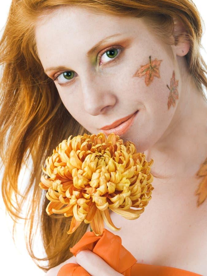 Autumn Style Face-art Stock Photos