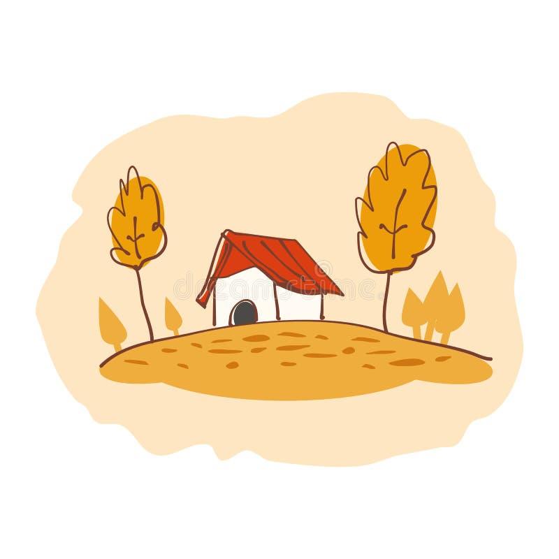 Autumn suburban house stock images