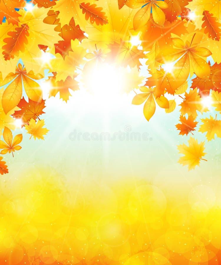 Autumn Sun illustration de vecteur