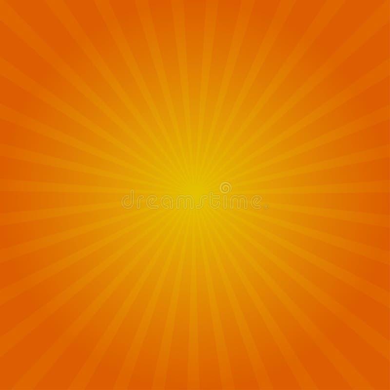Autumn Sun Rays Fundo do vetor Cores alaranjadas e amarelas vermelhas ilustração royalty free