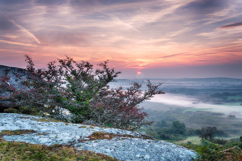 Autumn Sunrise bonito imagens de stock royalty free