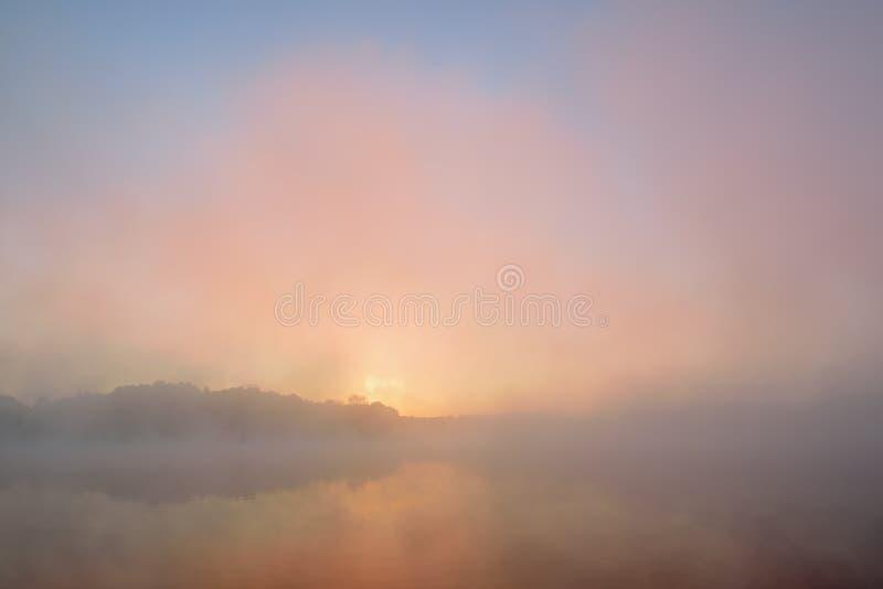 Autumn Sunrise Whitford Lake immagine stock