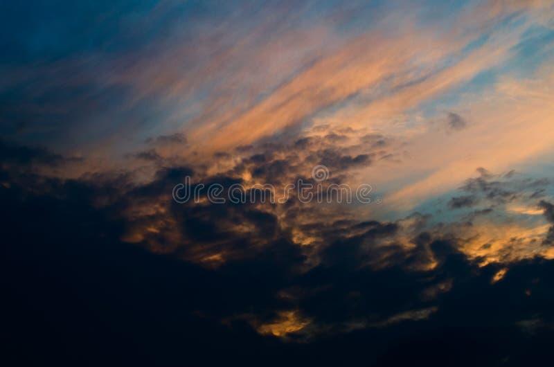 Autumn sunset sky. Colorful evening sky,. Autumn sunset sky. Bright evening sky. Nature picture for background royalty free stock photography