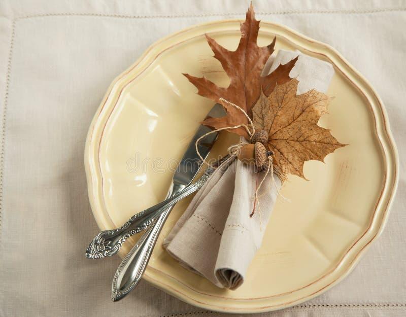 Autumn Table-het plaatsen royalty-vrije stock fotografie