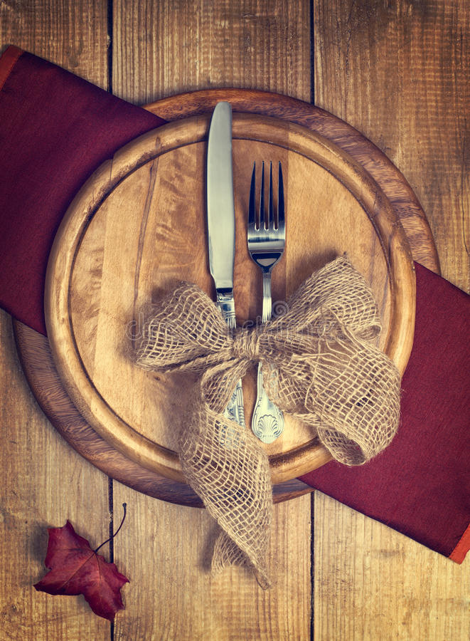 Autumn Table Setting photographie stock libre de droits