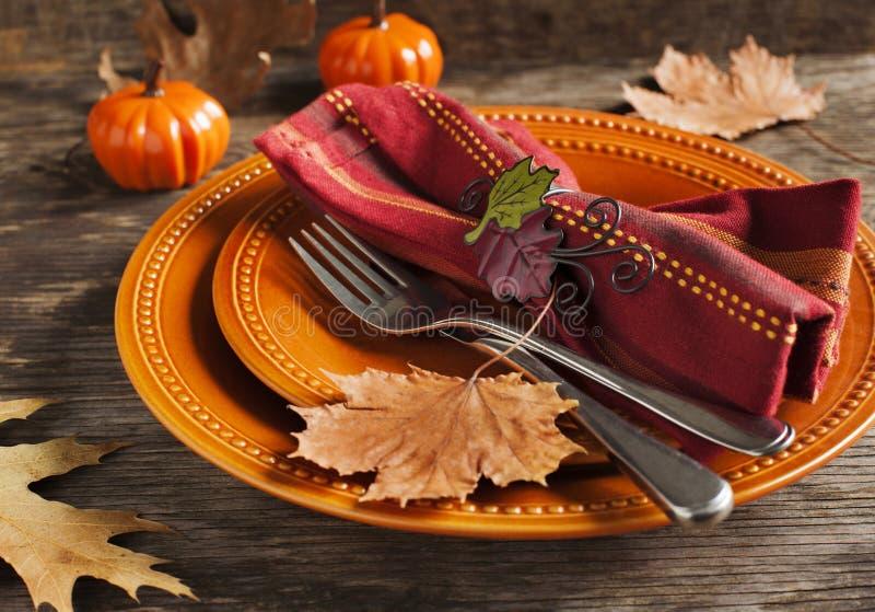 Autumn Table Setting stockfotografie