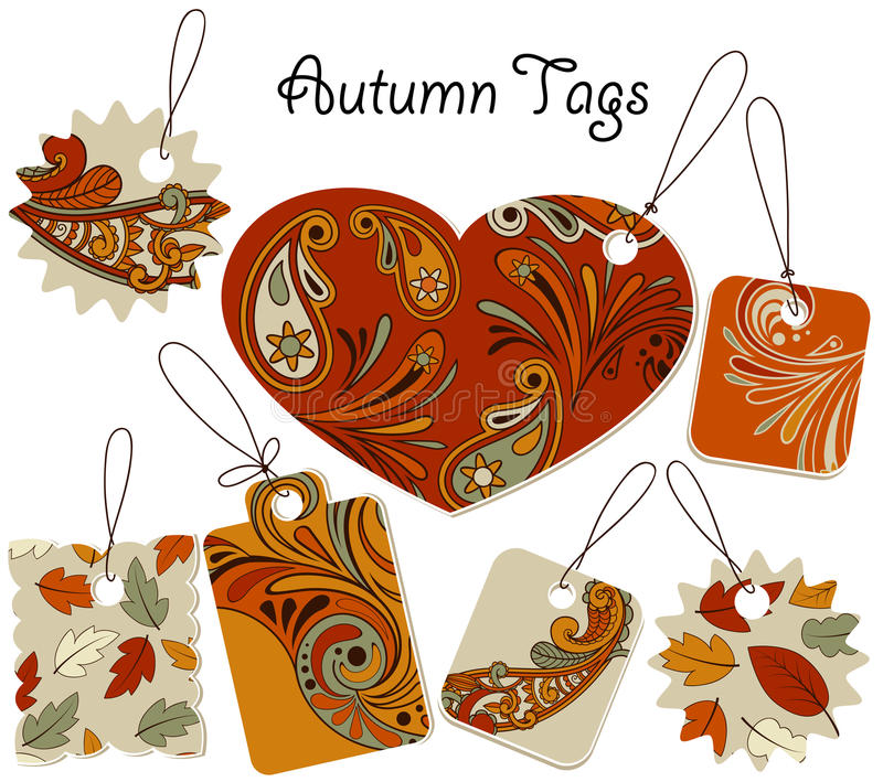 Download Autumn Tags stock vector. Illustration of cardboard, advert - 26248444