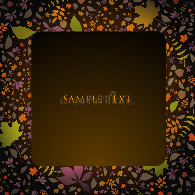 Download Autumn text panel stock vector. Illustration of season - 6624552