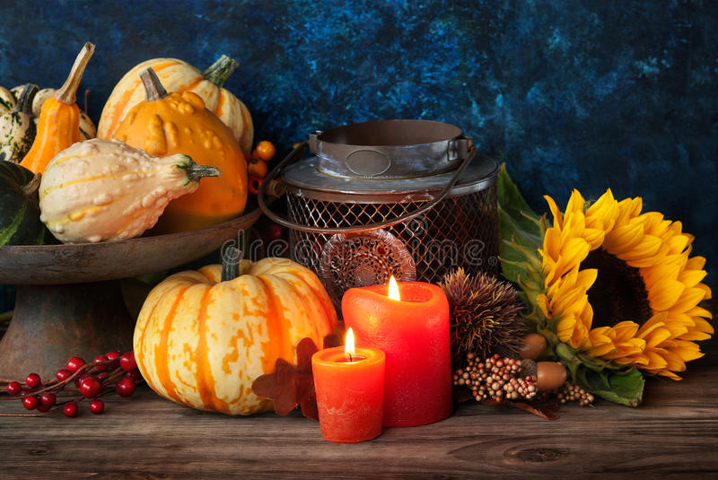 Autumn thanksgiving decor stock photography