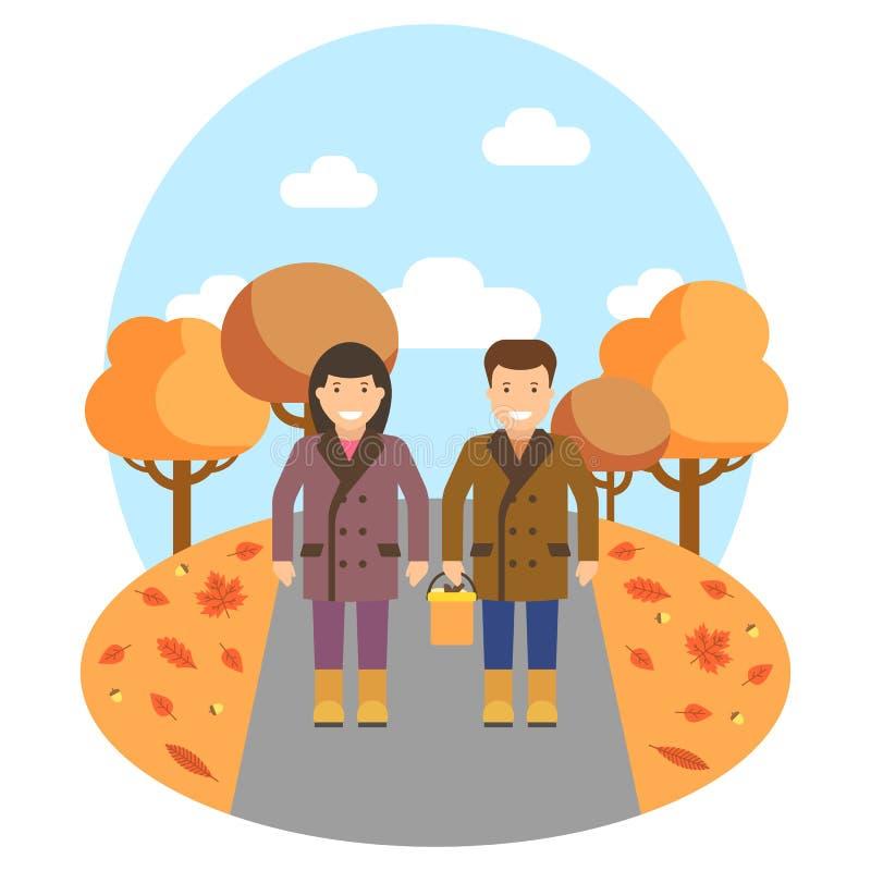 Autumn theme illustrtion royalty free illustration