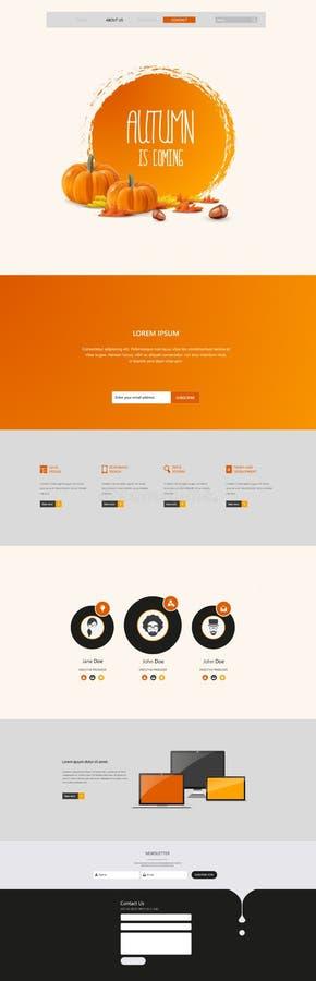Autumn Theme Website Template: Één Stijl van het Pagina Vlakke Ontwerp vector illustratie