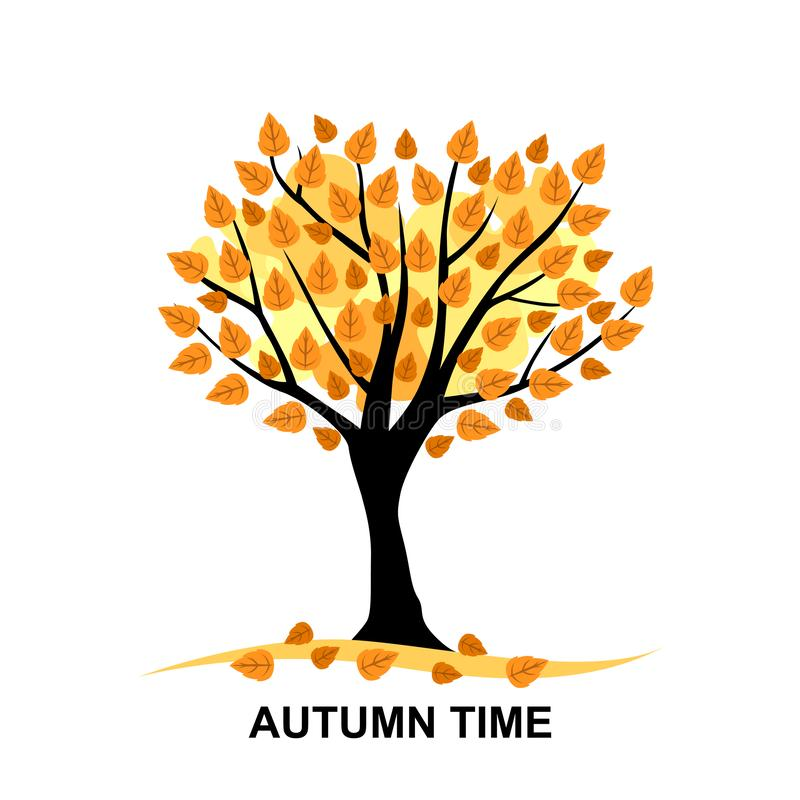 Autumn time card royalty free illustration